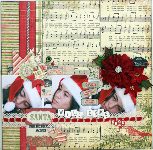 SANTA WILL COME SOON ***MY CREATIVE SCRAPBOOK***