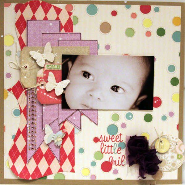 SWEET LITTLE GIRL*** MY CREATIVE SCRAPBOOK***