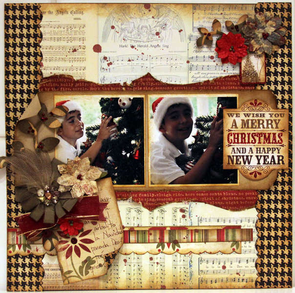 WE WISH YOU A MERRY CHRISTMAS *** MY CREATIVE SCRAPBOOK***