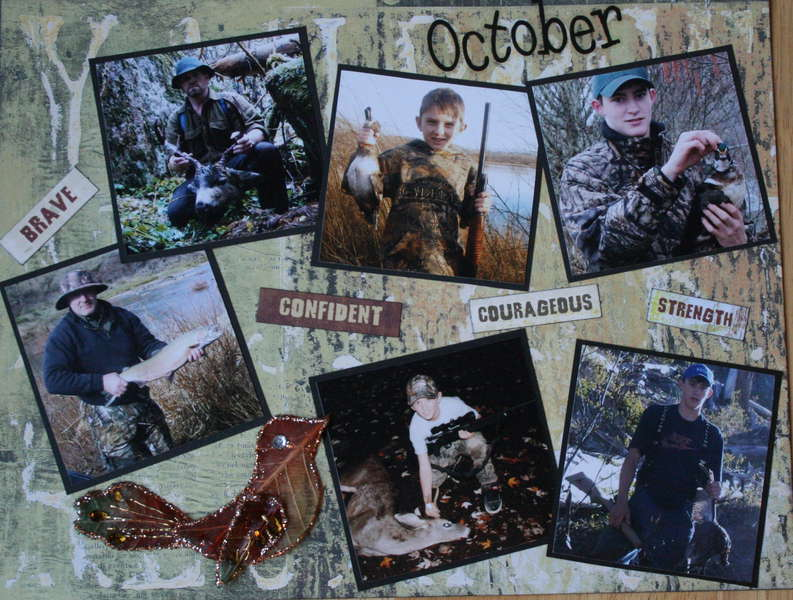 Hunting 2010 October calendar (top)
