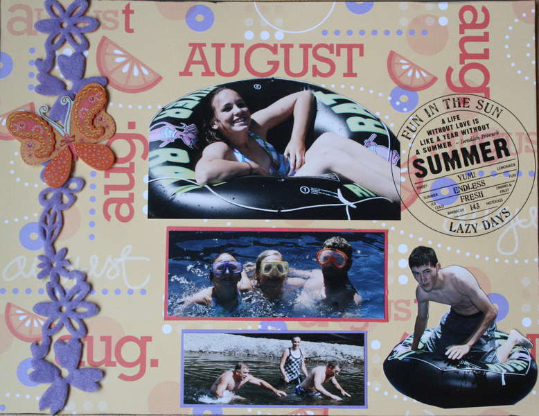 Summer Fun August 2010 calendar (top)