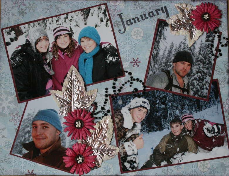 Snow Day January 2010 calendar (top)