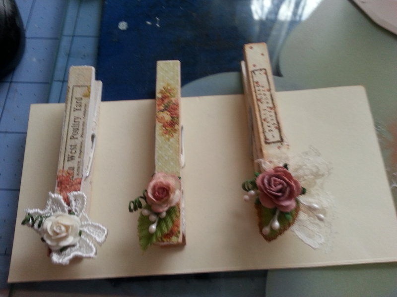 Altered Wooden Clothespins
