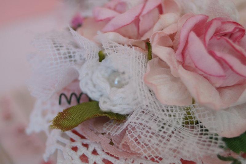 Crocheted Rose bud