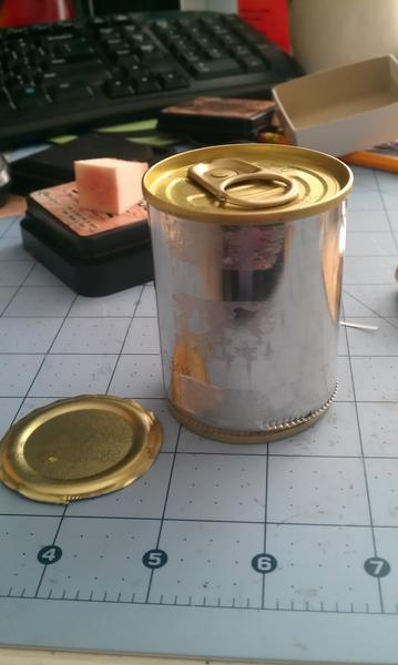 Altered pull tab/top can