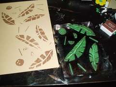 Palm background stamp