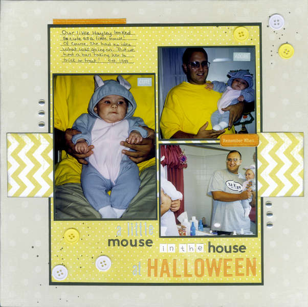 A Little Mouse In Our House At Halloween