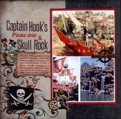 Captain Hook's Pirate Ship & Skull Rock