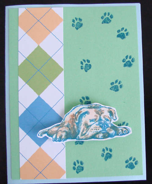 Argyle Dog Card