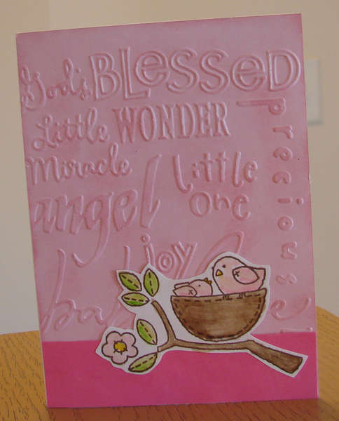 Baby card in Pink