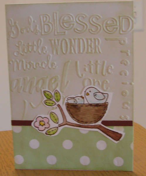 Baby card in Green
