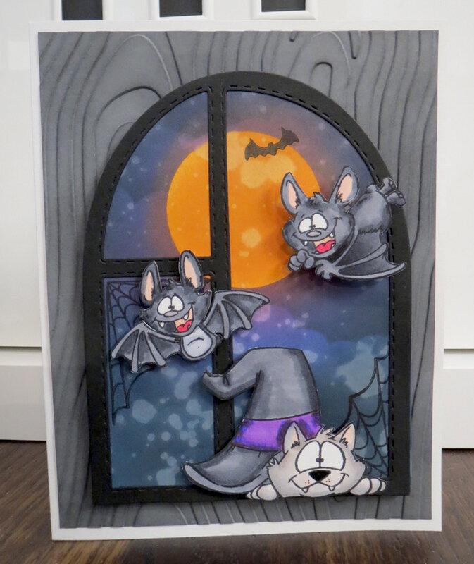 Halloween Bat Window Card