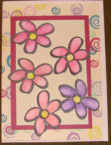 Big card with Big Flowers