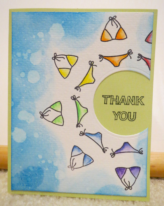 Bikini Thank you Card 1