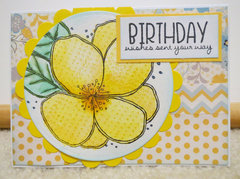 Yellow flower birthday card