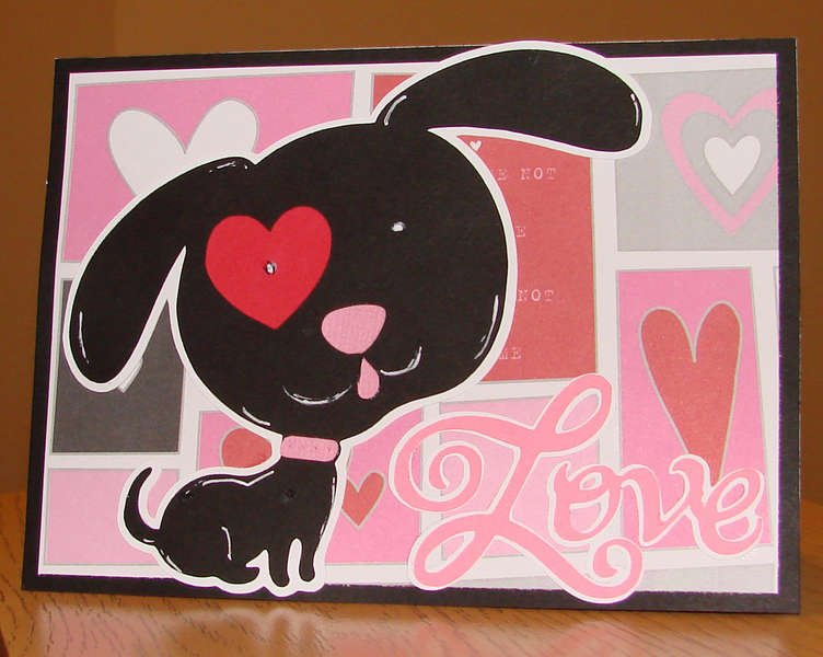 Black Puppy Love Card