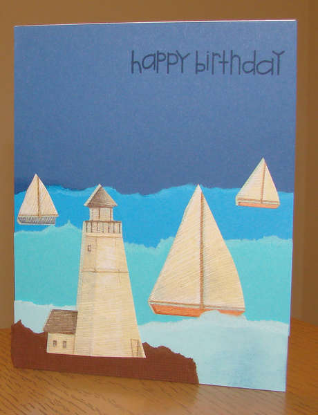 Boat Happy Birthday Card for Operation Write Home