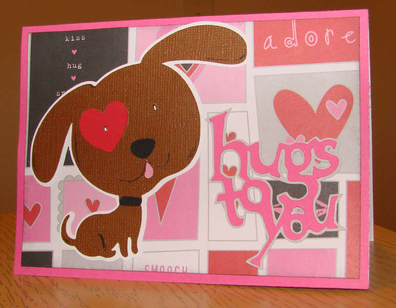 Hugs to You Puppy card