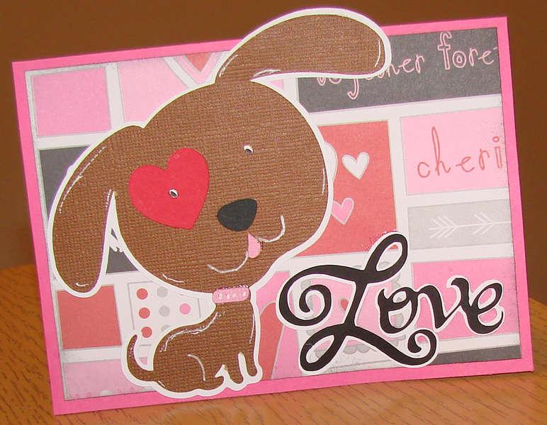Brown Puppy Love card