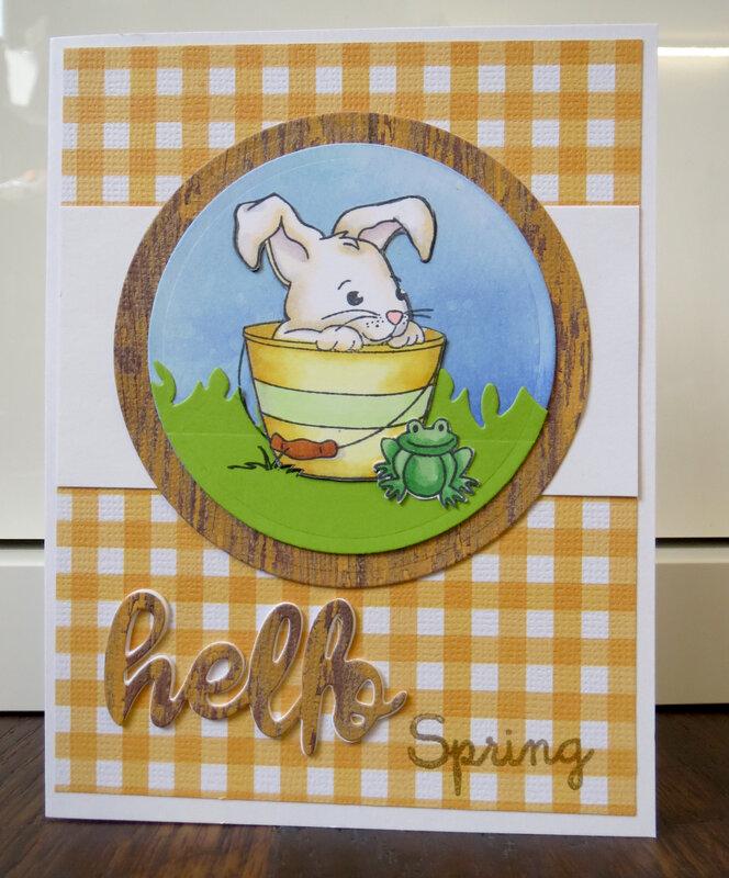 Hello Spring Bunny Card