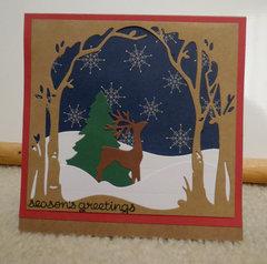 Deer scene Christmas Card 1