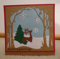 Deer scene Christmas Card 2
