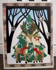 Christmas Deer card 3