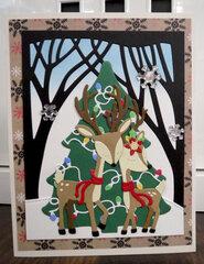 Christmas Deer card 4