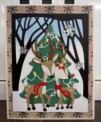 Christmas Deer card 1