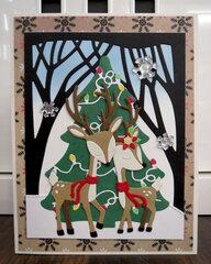 Christmas Deer card 2