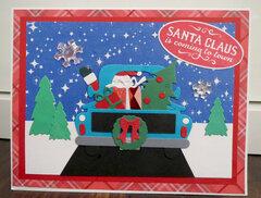 Santa in truck card 4