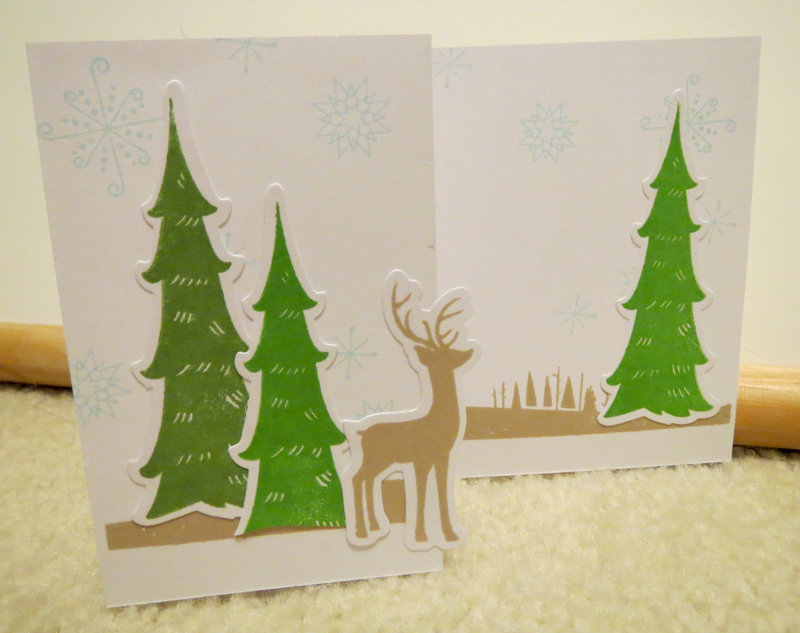 Z-Fold card with Deer