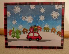 Car Christmas Card 1