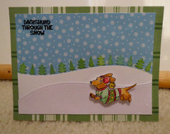 Dachshund (Doxie) Christmas Card 1