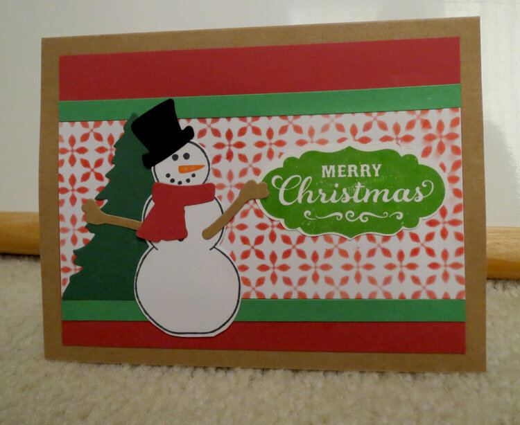 Snoman Card (red and green)