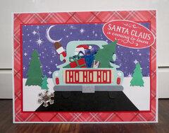 Santa in truck card 1