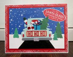 Santa in truck card 3