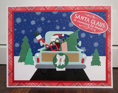 Santa in truck card 6