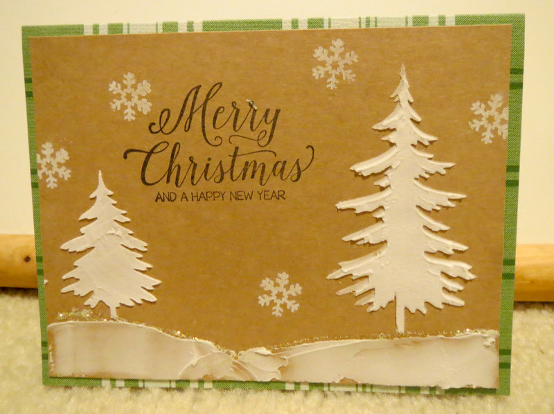 Christmas Card with Stencil 3