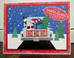 Santa in truck card 2
