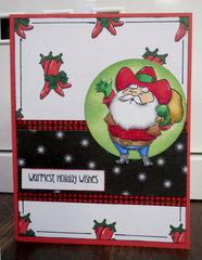 Southwest Santa card 1