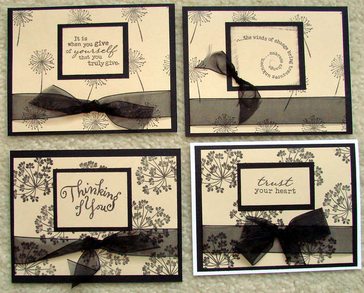 Curtain inspired cards sent to Operation Write Home