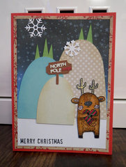 Deer holding heart card 1