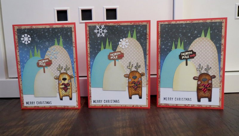 Deer holding heart cards (3 of 6)