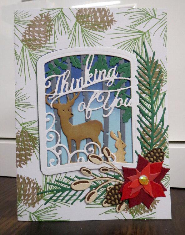 Deer Scene Christmas Card