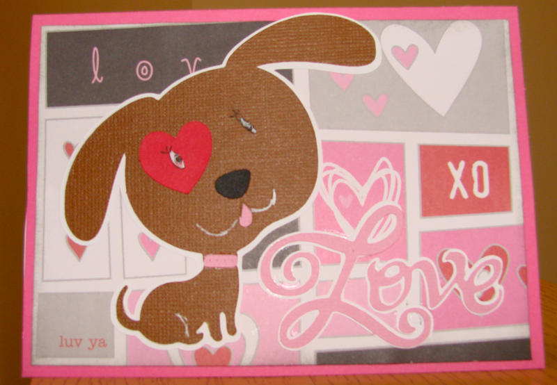 Love card with dog sent to Operation Write Home