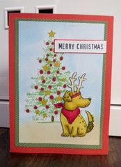 Dog with Tree Card