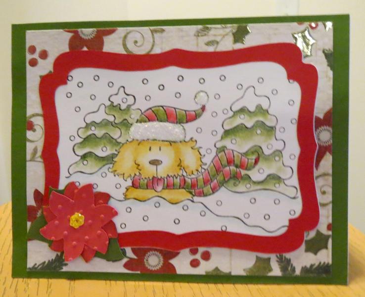 Dog Christmas card 2