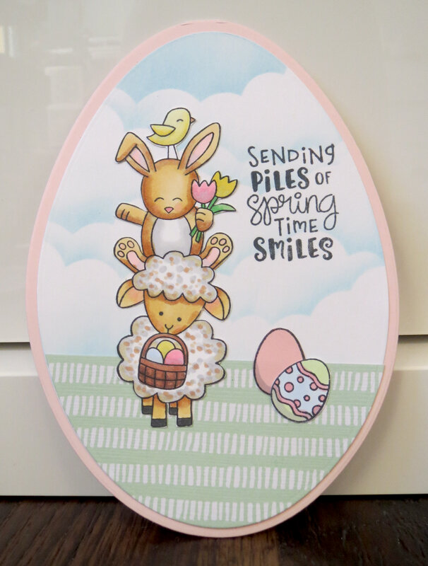 Easter Piles Card 1