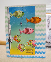 Fishy Birthday card